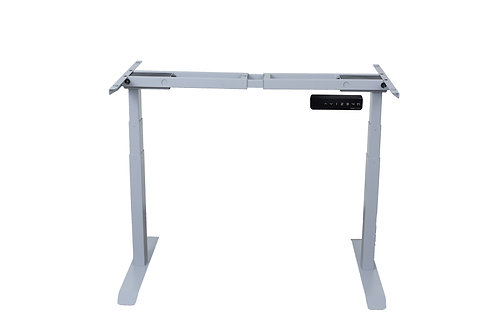 Standing Desk Frame with 3-Stage Height Levels Dual Motors –Grey
