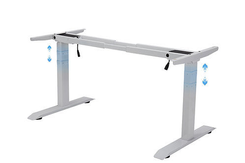 Standing Desk Frame with 3-Stage Height Levels Dual Motors – White