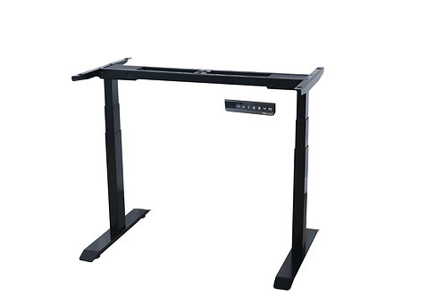 Standing Desk Frame with 3-Stage Height Levels & Dual Motors – Black