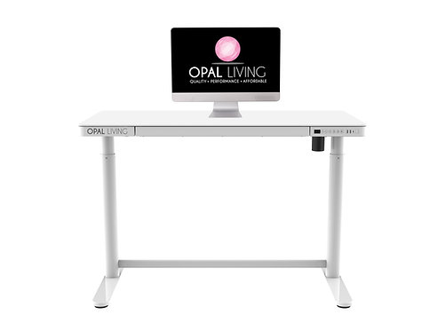 Glass Electric Standing Desk, Home Office Electric Height Adjustable Sit