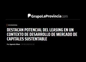 DESTACAN POTENCIAL DEL LEASING EN UN CONTEXTO DE DESARROLLO DE MERCADO DE CAPITALES SUSTENTABLE.