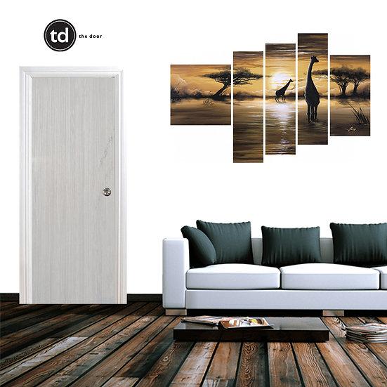 Laminate Solid Bedroom Door- TDWV White V Oak