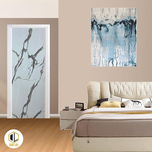 Solid Laminate Bedroom Door - Glacier Marble