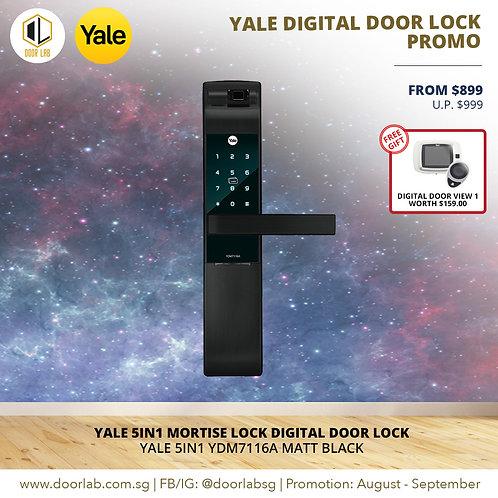 Yale 5IN1 YDM7116A Matt Black Digital Door Lock