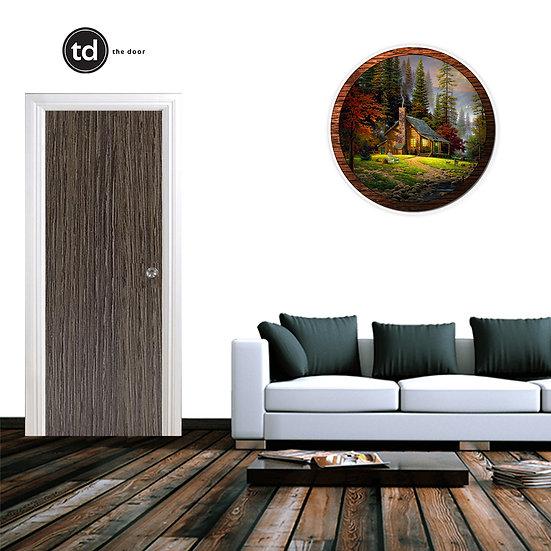 Laminate Solid Bedroom Door- TDND3 Cafe Oak
