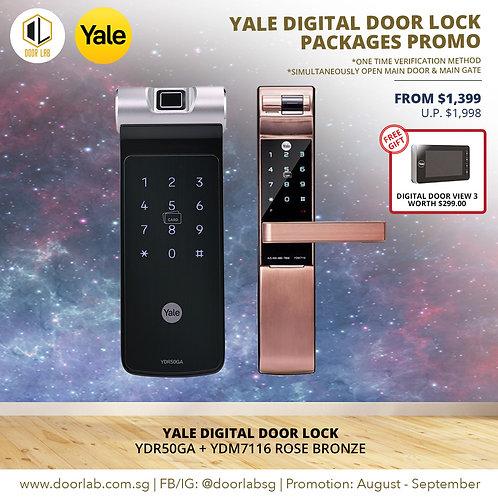 Yale Digital Door Lock Bundle Deal YDR50GA + YDM7116RB