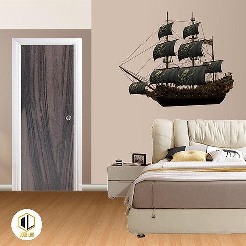Solid Laminate Bedroom Door - Gala Ash