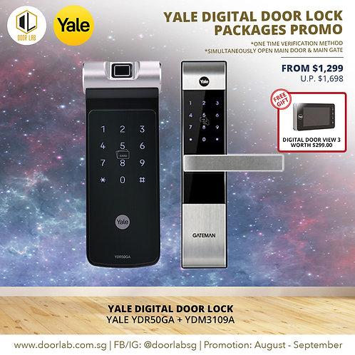 Yale Digital Door Lock Bundle Deal  YDR50GA + YDM3109A