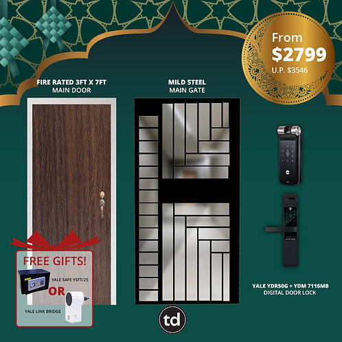 Laminate Fire Rated + Main Door + Yale YDR50G/ Yale YDM7116MB