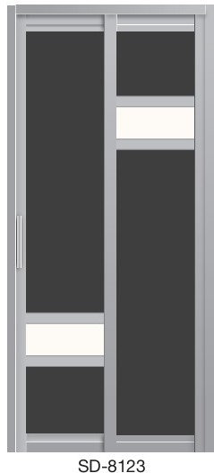 Slide & Swing Toilet Door SD-8123
