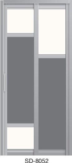 Slide & Swing Toilet Door SD-8052