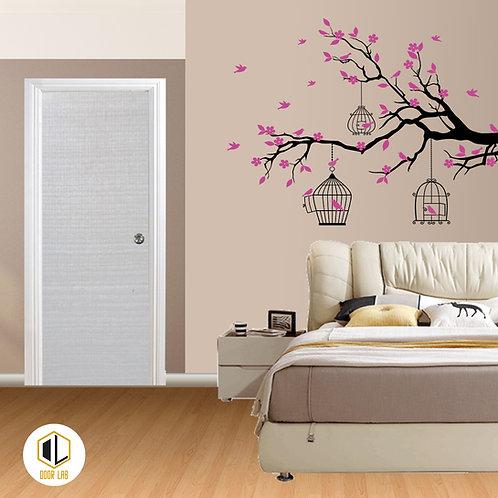 Solid Laminate Bedroom Door - Cream Maple H
