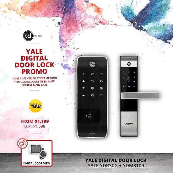 Yale YDR30G + YDM3109 Digital Door Lock Bundle Deal