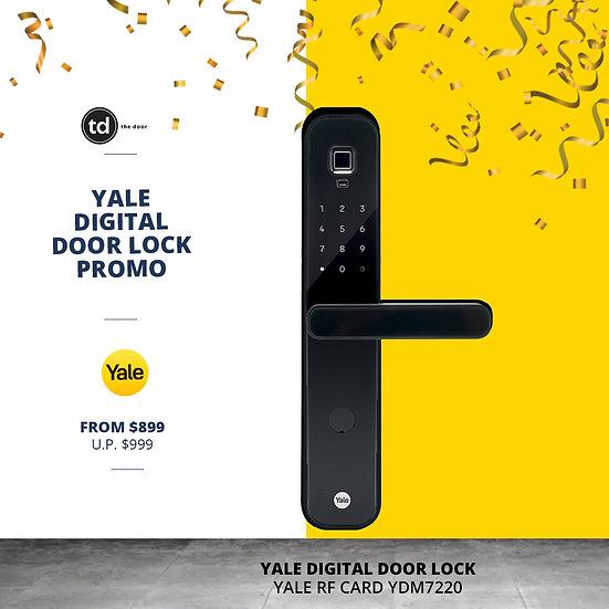 Yale 5IN1 YDM7220 Matt Black Digital Door Lock