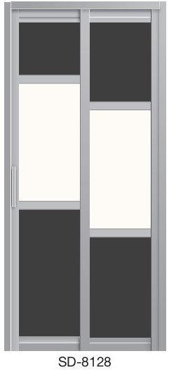 Slide & Swing Toilet Door SD-8128