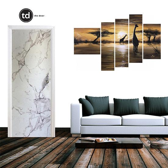 Laminate Solid Bedroom Door- TD1910 White Matt Marble