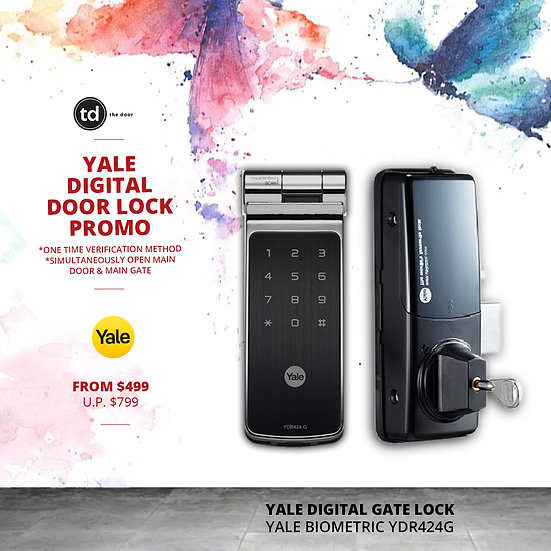 Yale Biometric YDR424G Digital Gate Lock