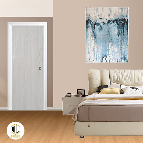 Solid Laminate Bedroom Door - Cream Maple V
