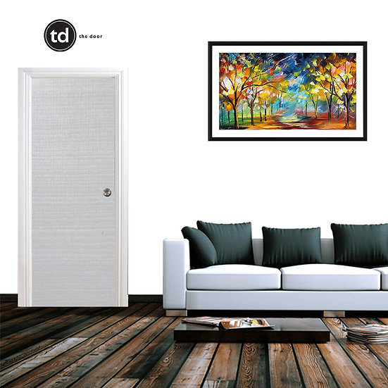 Laminate Solid Bedroom Door- TDWH White H Oak