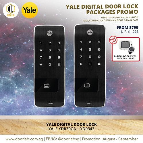 Yale Digital Door Lock Bundle Deal- YDR30GA + YDR343