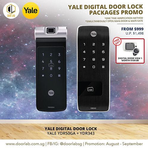 Yale Digital Door Lock Bundle Deal YDR50GA + YDR343