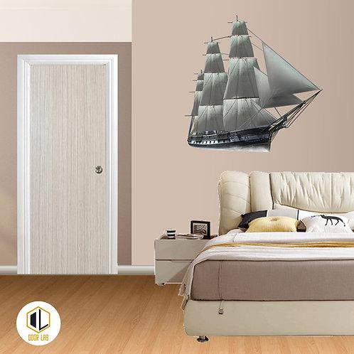 Solid Laminate Bedroom Door - Amber