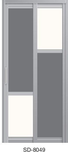Slide & Swing Toilet Door SD-8049