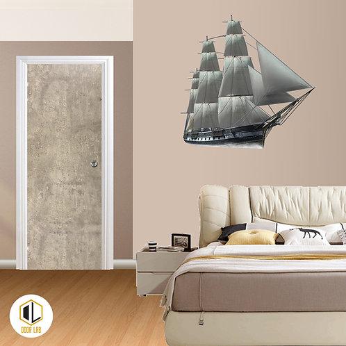 Solid Laminate Bedroom Door - Brushed Tip