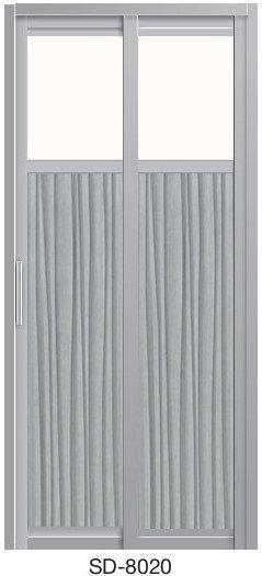 Slide & Swing Toilet Door SD-8020