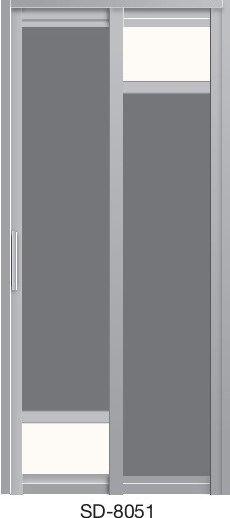 Slide & Swing Toilet Door SD-8051