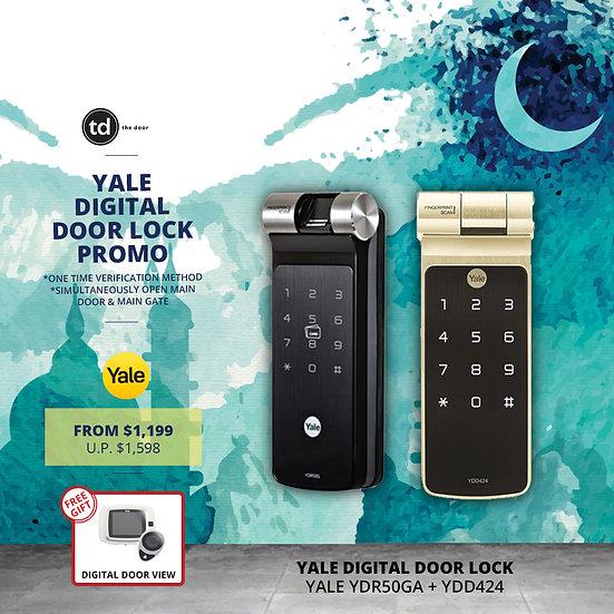 Yale YDR50G + YDD424+ Digital Door Lock Bundle Deal