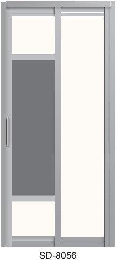 Slide & Swing Toilet Door SD-8056