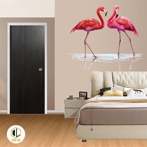 Solid Laminate Bedroom Door -Black Raven