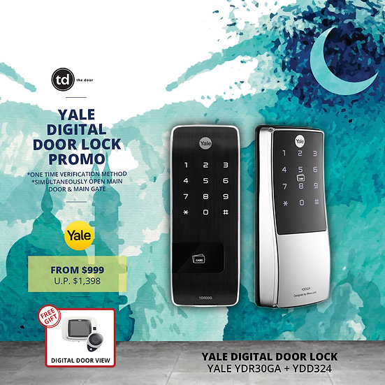 Yale YDR30G + YDD324 Digital Door Lock Bundle Deal