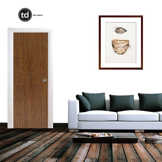 Laminate Solid Bedroom Door- TD4 Spiced Pearwood
