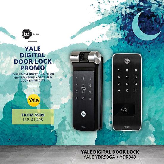 Yale YDR50G + YDR343 Digital Door Lock Bundle Deal
