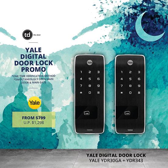 Yale YDR30G + YDR343 Digital Door Lock Bundle Deal