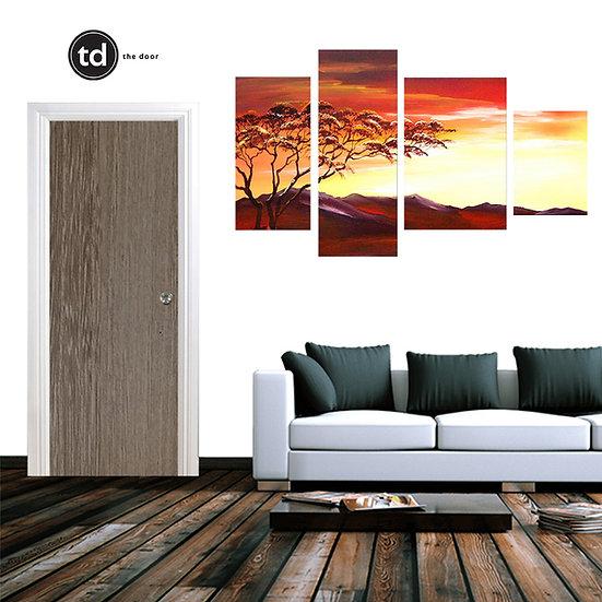 Laminate Solid Bedroom Door- TD8 Firwood