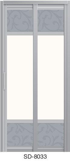 Slide & Swing Toilet Door SD-8033