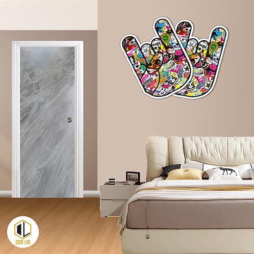Solid Laminate Bedroom Door - Smooky Matt Marble