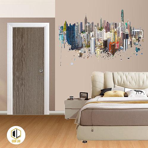 Solid Laminate Bedroom Door - Misty