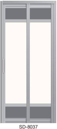 Slide & Swing Toilet Door SD-8037