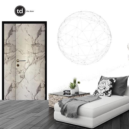 Laminate Main Door- TD1911 White Gloss Marble