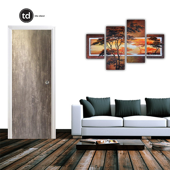 Laminate Solid Bedroom Door- TD1905 Rustic Concrete