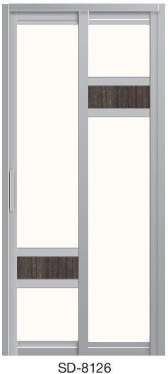 Slide & Swing Toilet Door SD-8126