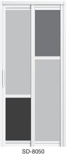 Slide & Swing Toilet Door SD-8050