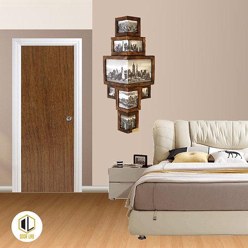 Solid Laminate Bedroom Door - Bleached Wood