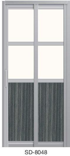 Slide & Swing Toilet Door SD-8048