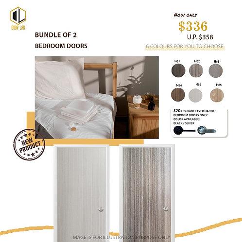 Package of 2- Melamine Semi Hollow Bedroom Doors