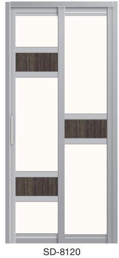 Slide & Swing Toilet Door SD-8120